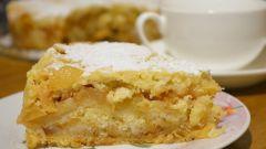 Насыпной пирог с яблоками за 10 минут