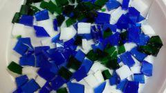 Как сделать мозаику из колотого стекла