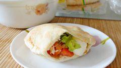 «Кармашки» из питы с начинкой: пошаговый рецепт с фото