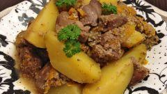 Тушеная картошка с печенью: пошаговые рецепты с фото для легкого приготовления