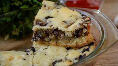 Заливной пирог на кефире с грибами: рецепт шикарной выпечки-закуски
