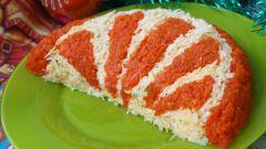 """Пошаговый рецепт салата """"Апельсиновая долька"""""""