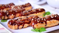 Как приготовить ореховые эклеры