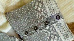 Как сшить чехол для подушки из свитера