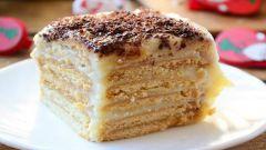 Как сделать торт с кремом без выпечки