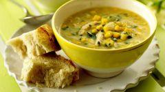 Как приготовить куриный суп с кукурузой