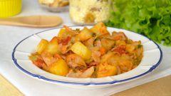 Как приготовить тушеную капусту с картошкой и окорочками