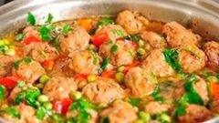Как приготовить овощное рагу с мясными шариками