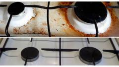 Как очистить плиту в домашних условиях
