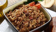 Как приготовить гречку с копченой грудинкой