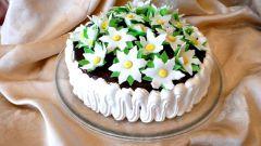 """Как приготовить йогуртовый торт """"Невеста"""" с цветами"""