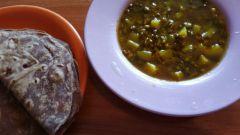 Как сделать вкусный суп дал и лепешки-питы