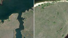 Самые странные и необычные места на карте Google Earth