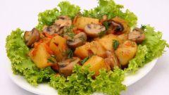 Как приготовить тушеную картошку с грибами и морковью