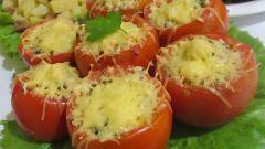 Как приготовить помидоры, фаршированные фаршем