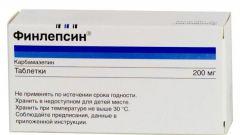 Финлепсин: инструкция по применению, цена, аналоги
