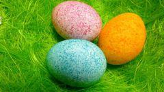 Как покрасить яйца к пасхе рисом