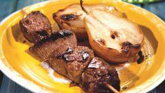 Как приготовить шашлык из говядины с грушами