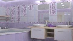 Сиреневая ванна: 5 вариантов оформления интерьера