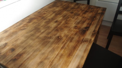 Как сделать обжиг и браширование деревянного стола своими руками