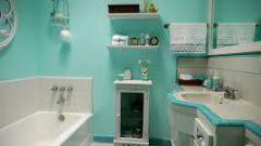 Бирюзовая ванная комната: варианты дизайна