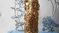 Ваза из трубы от линолеума: напольные изделия
