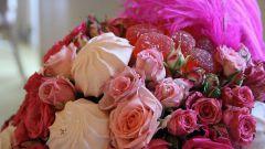 Как сделать букет из зефира и роз