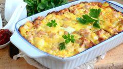 Как приготовить вкусную картофельную запеканку с куриным филе