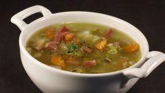 Как приготовить гороховый суп с копченой колбасой