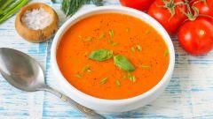 Как приготовить вкусный томатный суп-пюре