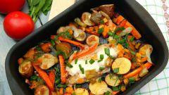 Как приготовить куриную грудку с овощами в духовке