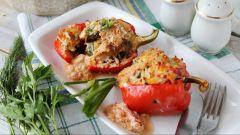 Как приготовить болгарский перец, фаршированный грибами