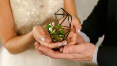 Геометрический декор в оформлении свадьбы