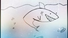 Как легко нарисовать акулу