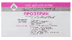Прозерин: инструкция по применению, показания, цена