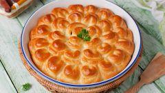 """Как приготовить мясной пирог """"Хризантема"""""""