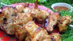 Как приготовить шашлык с горчицей из курицы