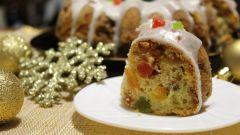 Как сделать английский рождественский кекс с сухофруктами