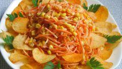 Салат с корейской морковкой и чипсами: рецепты