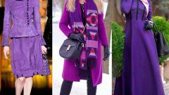 Фиолетовый цвет в одежде: шикарные варианты