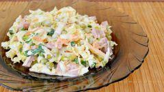 Салат из пекинской капусты с колбасой: пошаговый рецепт с фото