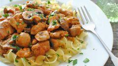 Как приготовить бефстроганов из мяса курицы: пошаговый рецепт