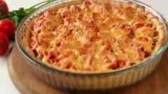 Как приготовить открытый пирог с фаршем на картофельном тесте