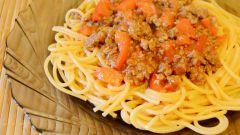 Спагетти с мясным фаршем: пошаговый рецепт с фото