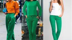 Как носить зеленые брюки стильно