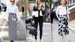 Нескучные комбинации черного и белого в одежде