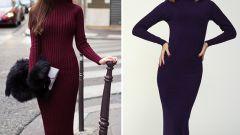 С чем носить платье-водолазку и выглядеть стильно