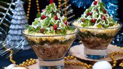 Как сделать салат-коктейль с киви к новогоднему столу