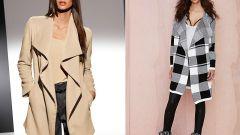 С чем носить пальто-кардиган