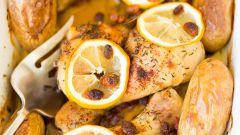 Диетическая курица в духовке – рецепт с лимоном и овощами